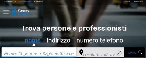 Surname research through white pages in Italy