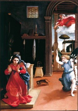 Lorenzo Lotto: the Annunciation of Recanati