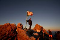 Picture of expedition on top of Mount Kenya