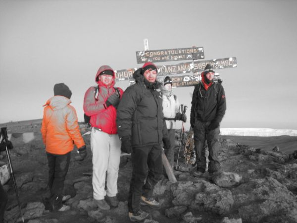 Picture of expedition on top of Kilimanjaro